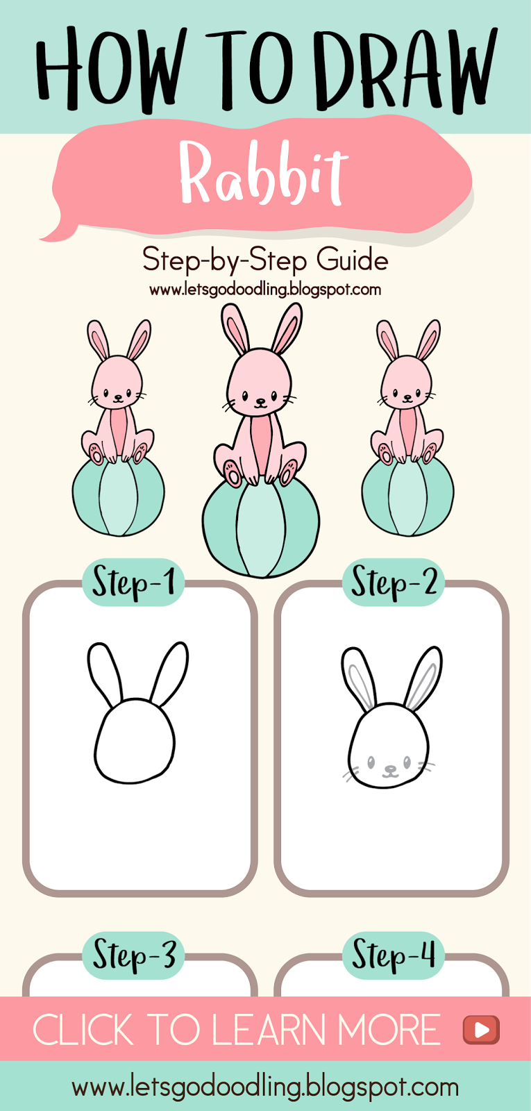 - How To Draw Rabbit Sitting In A Ball - Easy Step By Step Drawing