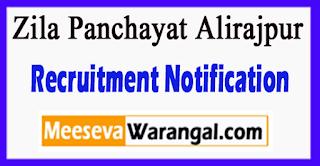 Zila Panchayat Alirajpur Recruitment Notification 2017 Last Date 28-06-2017