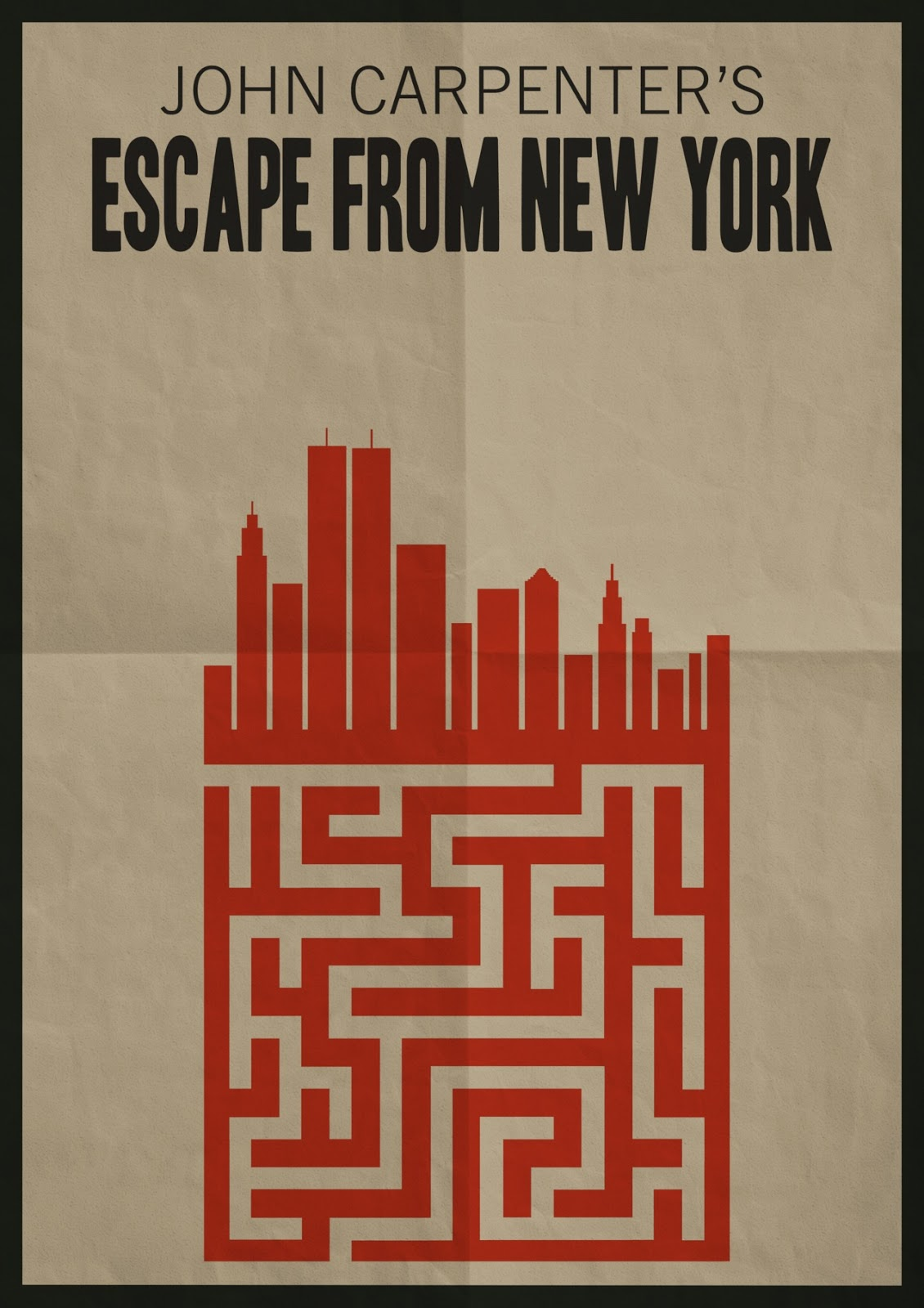 Bloody Pit of Rod: ESCAPE FROM NEW YORK Poster Art