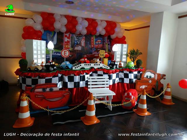 Decoração infantil tema Carros (Disney) para festa de aniversário infantil - Decoração tradicional luxo