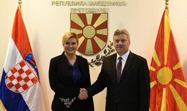 Kroatische Präsidentin zu Besuch in Mazedonien