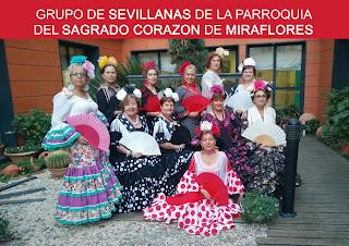 """Alumnas del grupo de sevillanas de la """"Escuela de Familia"""" de la Parroquia llevan la alegría a nuestros mayores"""