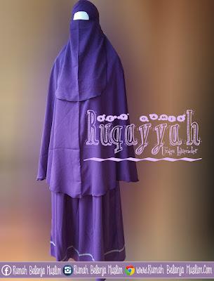 Set Gamis Syari Ruqoyyah Lavender