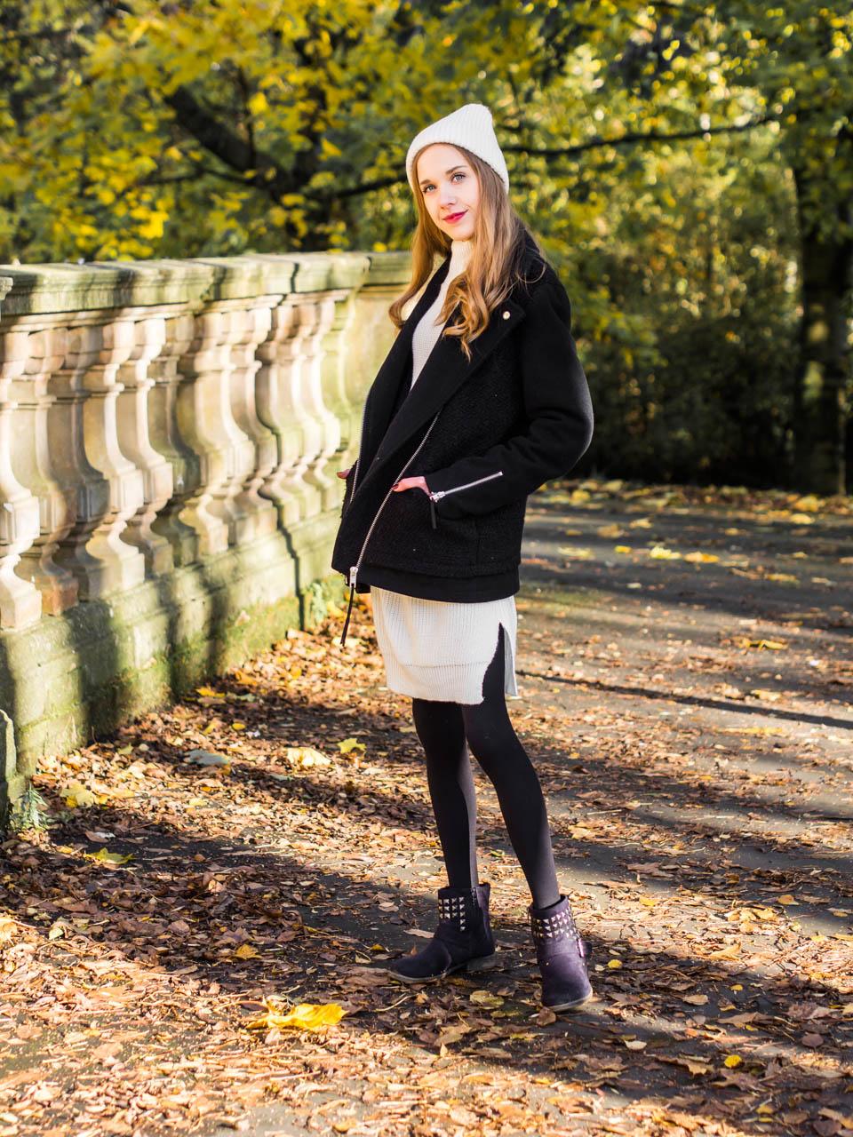 Black and white autumn outfit - Mustavalkoinen syysasu