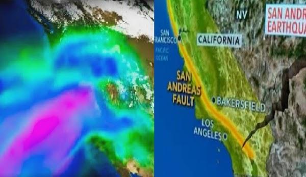 """Otro """"BIG ONE"""", mega-tormenta rara podría dañar a California 3 veces más que un terremoto en San Andrés  En California, Estados Unidos."""