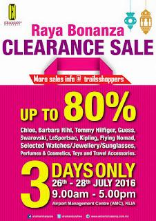 Malaysia Airports Raya Bonanza Clearance Sales