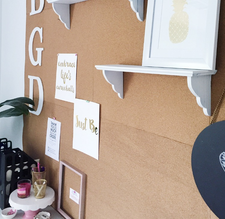 diy corkboard wall for home office from