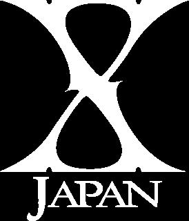 X Japan の背景透過ロゴ 白
