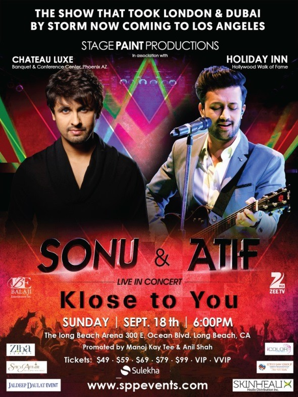 Sonu Nigam and Atif Aslam Concert 2016