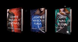 portadas libros saga ACOTAR: Una corte de rosa y espinas de Sarah J. Maas