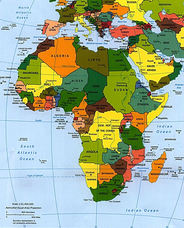 europa afrika karta Afrika Karta över Region Politiska europa afrika karta
