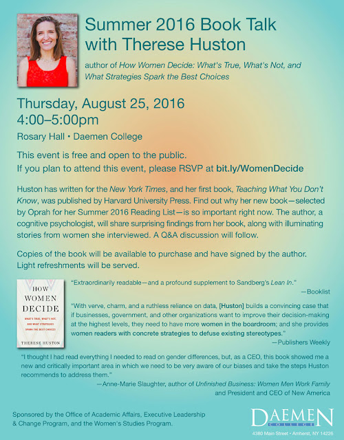 "Therese Huston to speak on ""How Women Decide"" -- August 25"