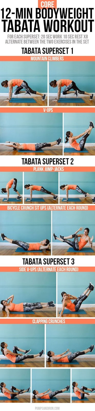 12-Minute Bodyweight Tabata Workout Series