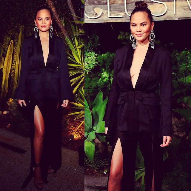 Chrissy Teigen - at H&M Conscious Exclusive Collection Dinner in Los Angeles