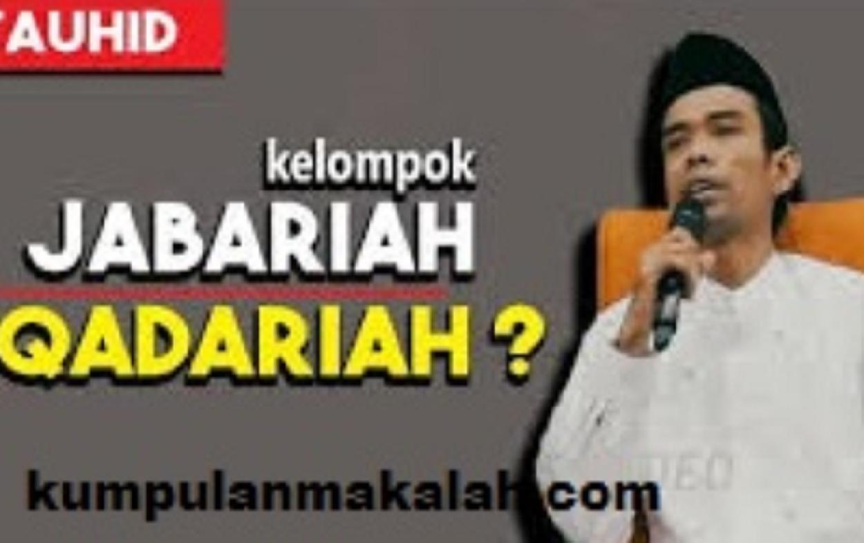 Paham Jabariah dan Qadariah