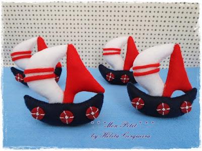lembrancinha-maternidade-em feltro- tema marinheiro-barco em feltro-handmade-felt