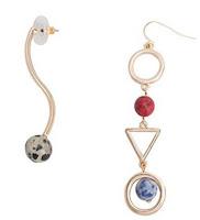 Mango Women's Mixed Asymmetric Earrings