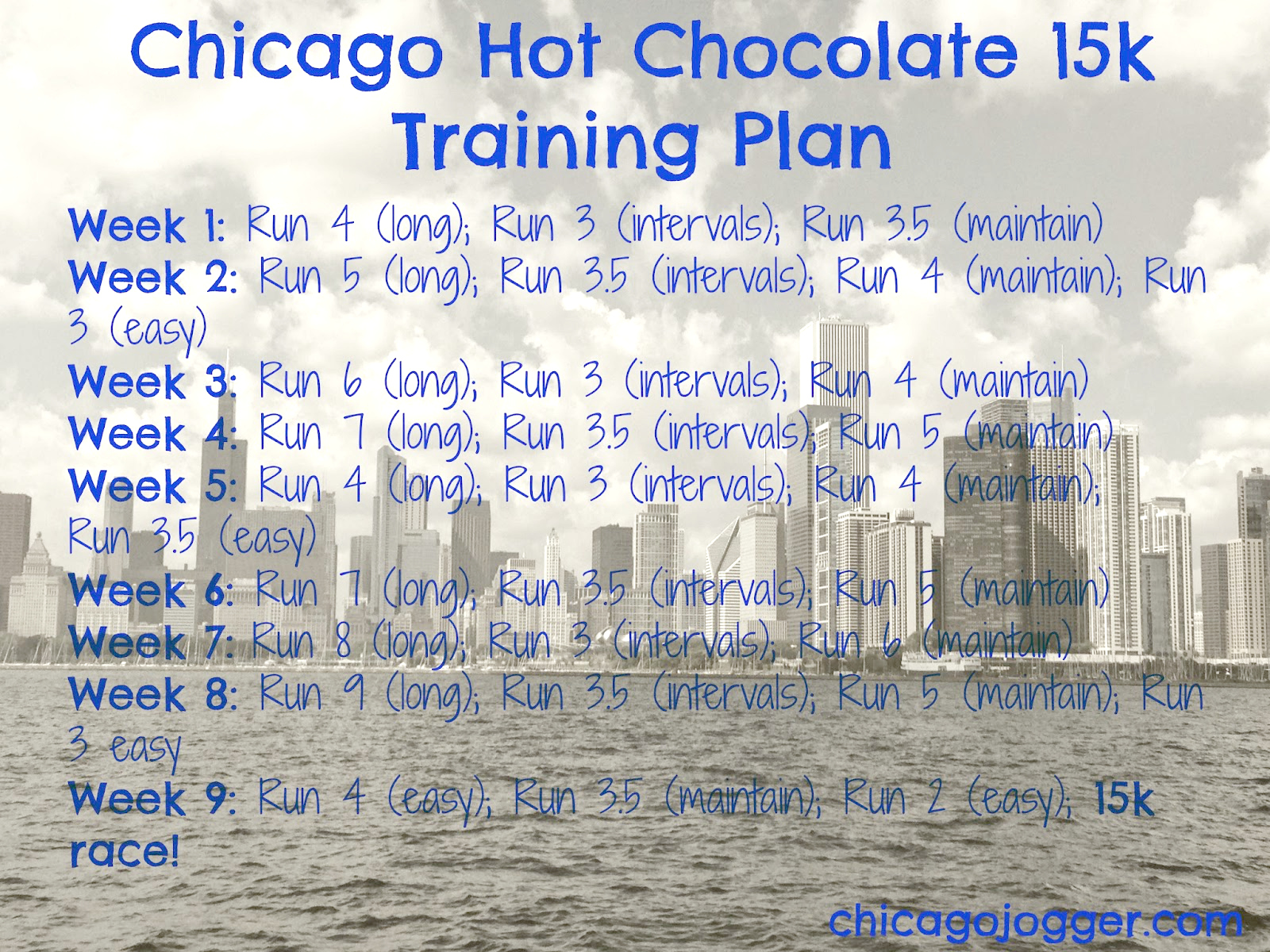 Chicago Jogger: Hot Chocolate 15k Training Plan.