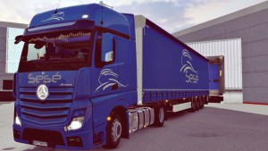 Sese Mercedes MP4 Truck Skin and Trailer
