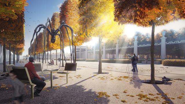 Gorky Park entrance square 3D visualization | Archirost blog