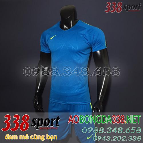 Áo Bóng Đá Không Logo Đẹp Nike TB Xanh Nhạt