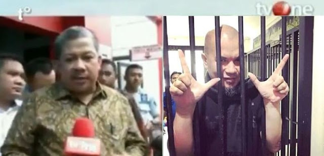 Melalui Fahri Hamzah Yang Menjenguknya, Ahmad Dhani Titip Pesan Untuk Pendukung Prabowo-Sandi