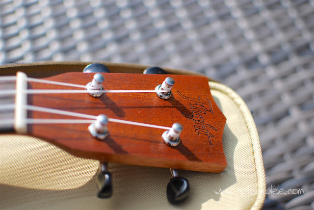 Flight NUS310 Soprano Ukulele headstock