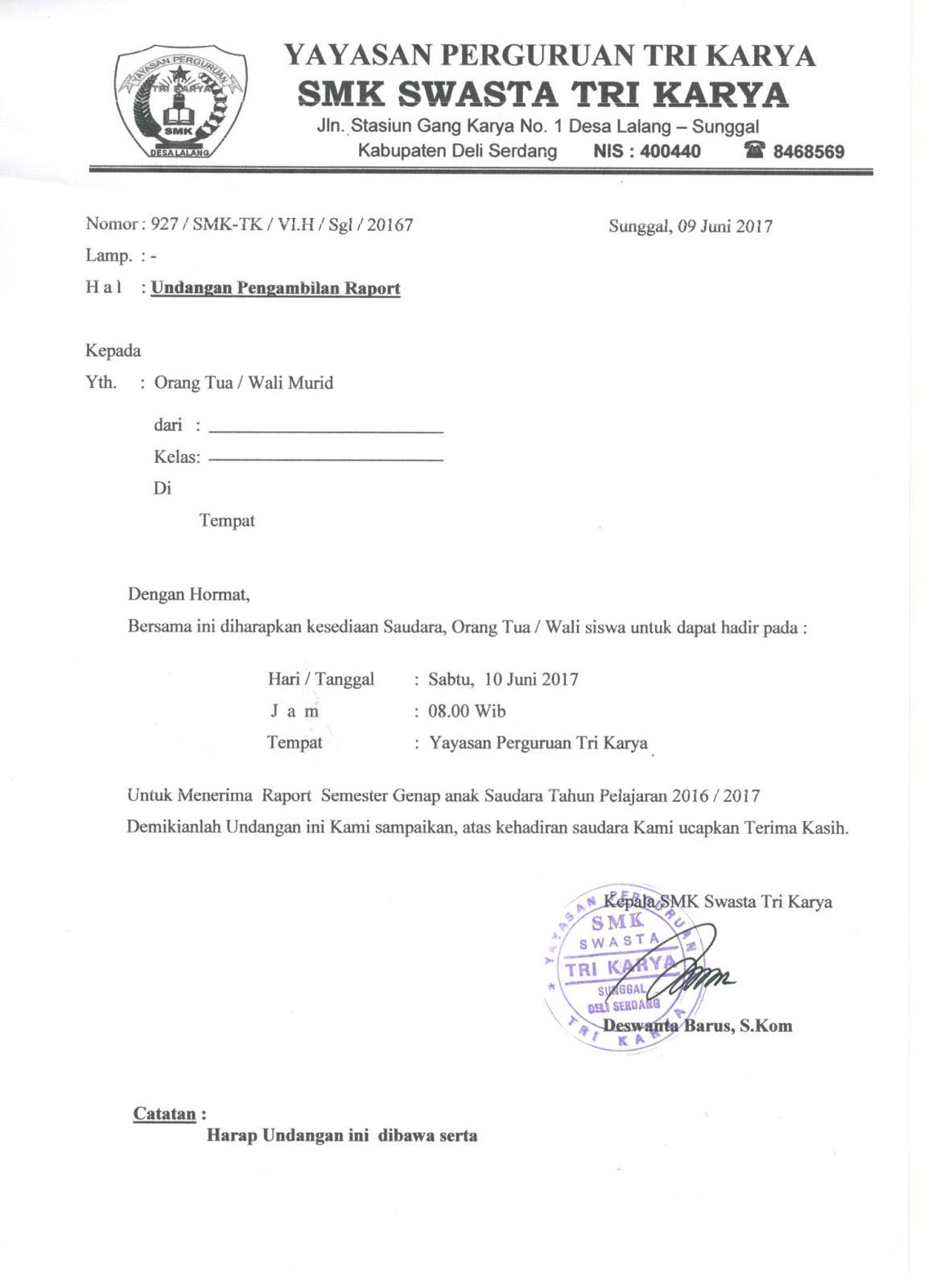 26++ Contoh surat dinas pengambilan raport terbaru yang baik