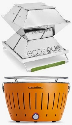 Ecoque and LotusGrill portable BBQ grills