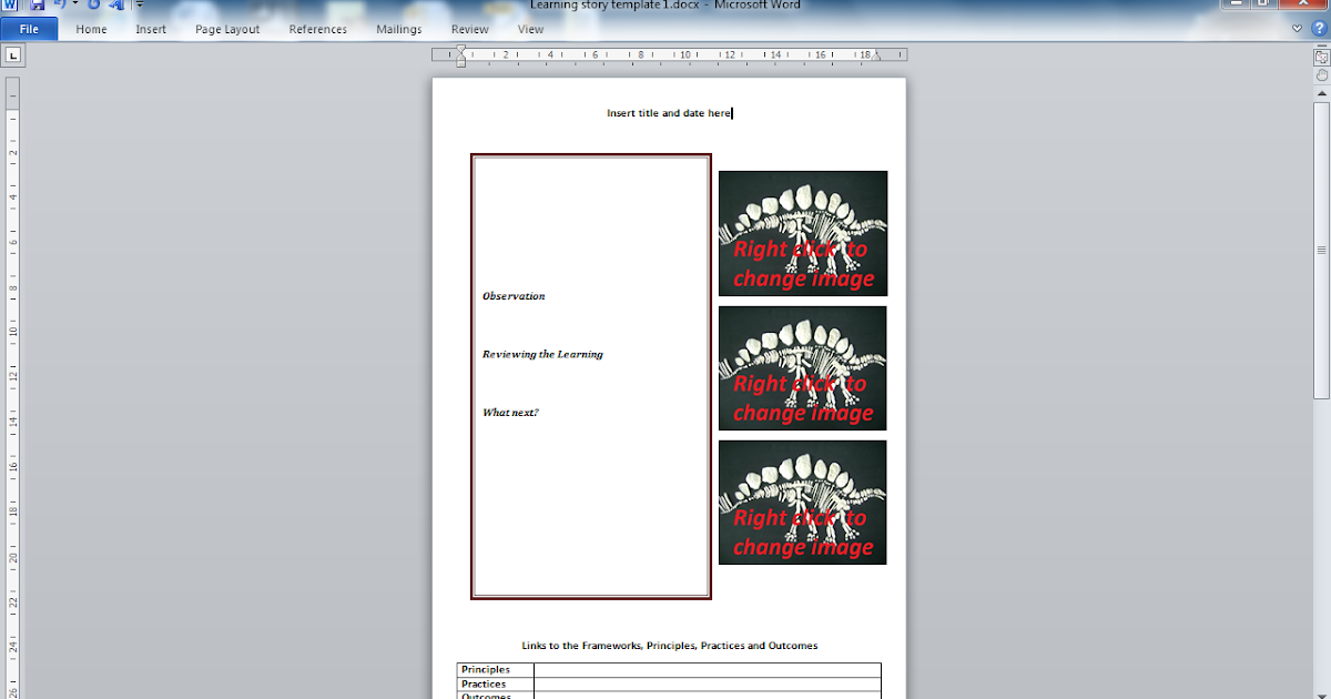 h and p template - designing early childhood australia emergent curriculum