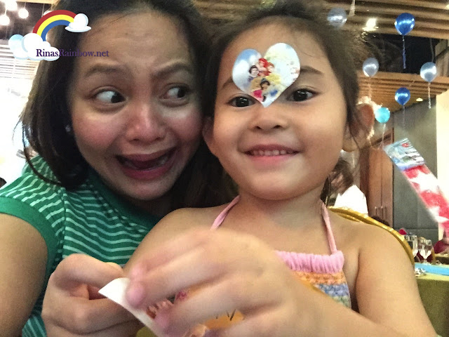 sticker on the face