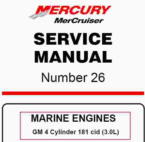 Mercruiser Gm 4 Cylinder 181 Cid  3 0l  Service Manual