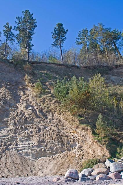 erozja klifów w Jastrzębiej Górze
