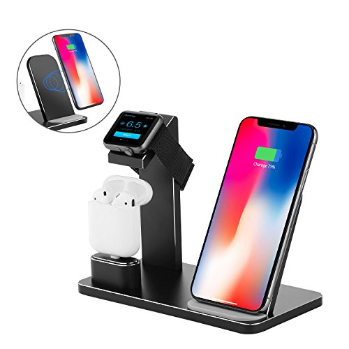 695e705b014c Wireless Charger Stand, XUNMEJ Aluminum Fast Wireless Charging Pad Stand  for Apple Phone Xs X Max XR ...