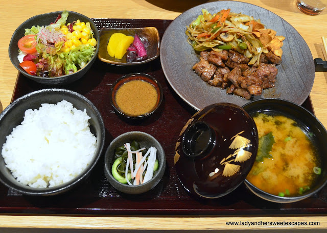 lunch set in Miyako restaurant Dubai