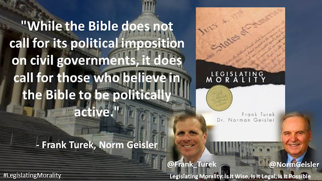 """While the Bible does not call for its political imposition on civil governments, it does call for those who believe in the Bible to be politically active."""