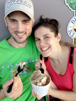 Philip and Hannah Cavey enjoying ice cream while in the Florida Keys.