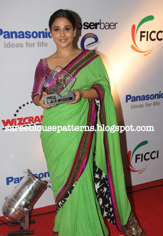 Vidya Balan In Green Sabyasachi Saree With Shahrukh Khan