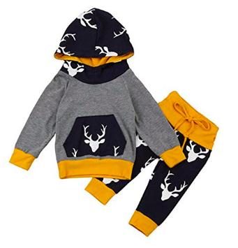 Christmas Eve Box Ideas for a One Year Old - Toddler reindeer hooded top and pants