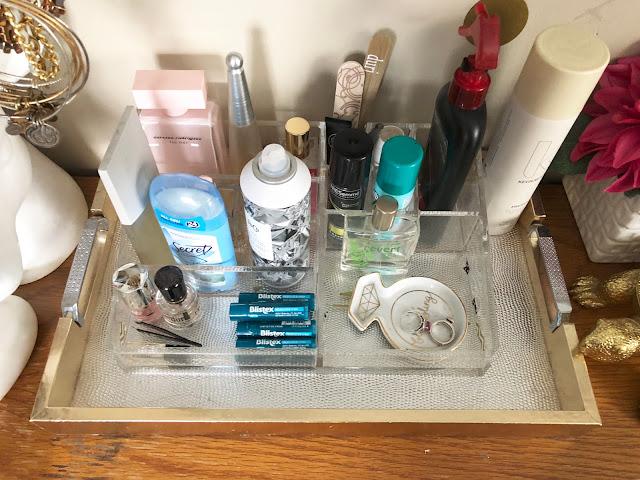 Organized vanity top