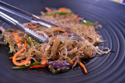 Japchae in a Korean buffet
