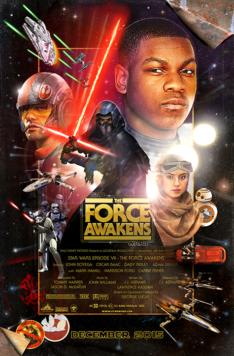 Fan-Made Poster pentru Star Wars: The Force Awakens.