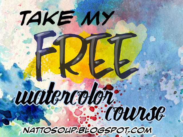Free watercolor tutorials, free watercolor course, free watercolor lessons