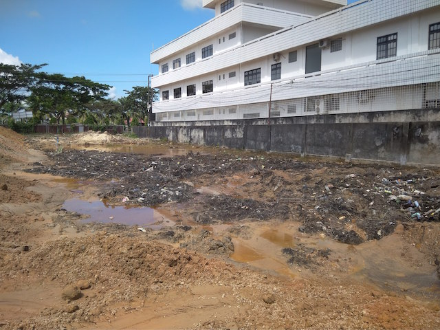 Keadaan Tanah di Proyek Universitas Terbuka Tarakan