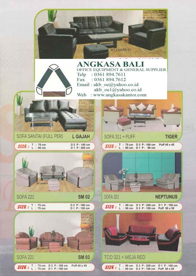 Angkasa jakarta jual meja kantor kursi kantor alat for Sofa bed yang bagus merk apa
