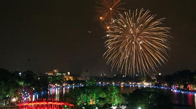 Celebracion del Tet en Hanoi