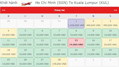 Vé máy bay đi Kuala Lumpur tháng 2 chỉ từ 19k