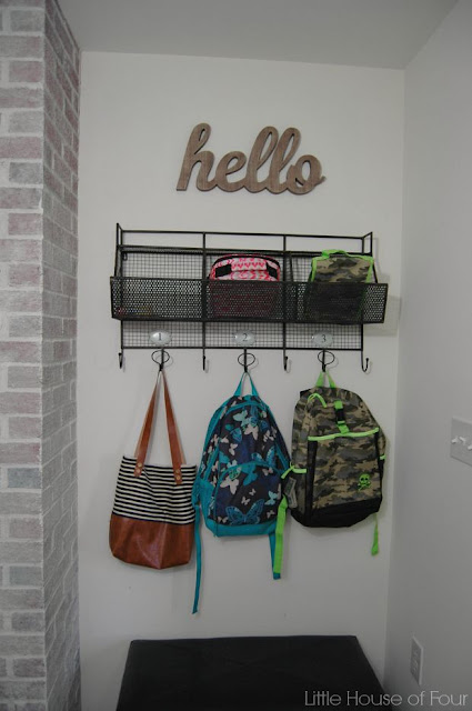 An organized mudroom for back to school