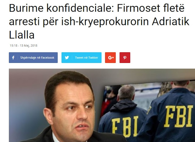 Former General Prosecutor of Albania, Adriatik Llalla soon to be arrested