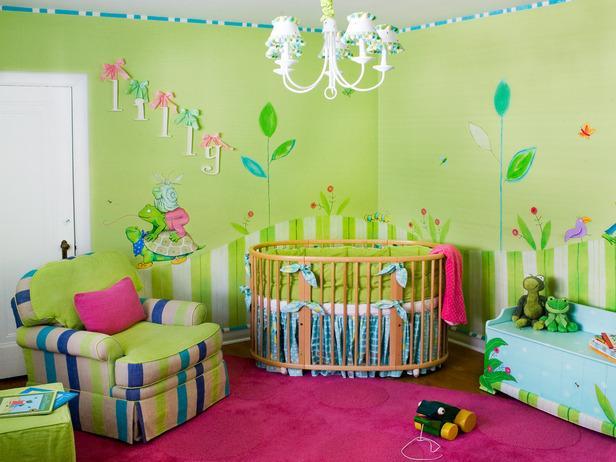 دهان غرف أطفال 2020 باللون الأخضر